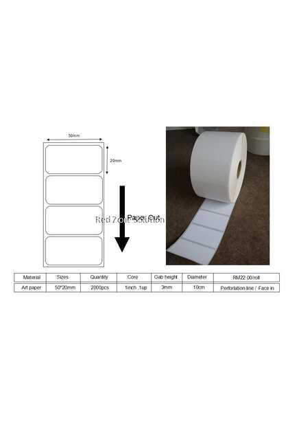 Artpaper Label Sticker 50x20mm