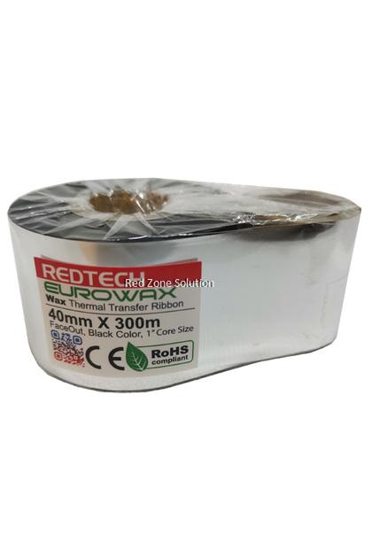 REDTECH EUROWAX 40*300m PREMIUM QUALITY Wax Barcode Ribbon