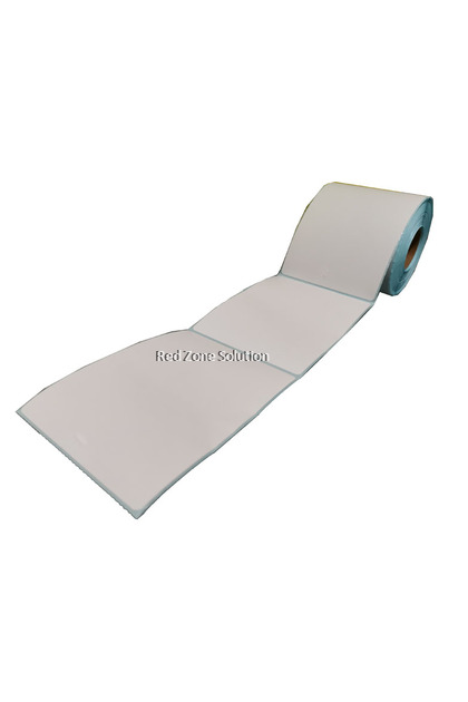 Direct Thermal Label Sticker - 100x150mm, 350pcs/roll